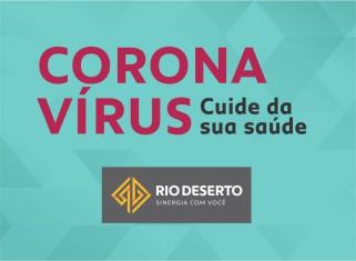 CORONAVÍRUS (COVID-19) – Ações Rio Deserto
