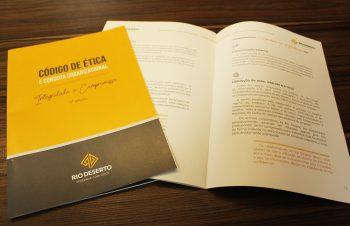 Lançada a 2ª edição do Código de Ética e Conduta Organizacional, da Rio Deserto